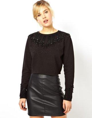Asos Sweatshirt with Embellished Necklace