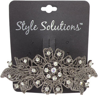 Skaffles Style Solutions Metal Barrette with Flower