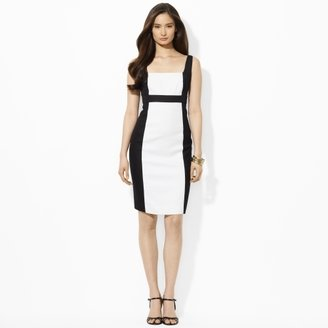 Ralph Lauren Two-Toned Square-Neck Dress