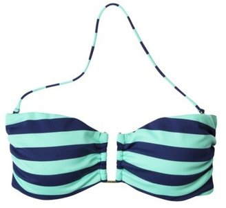 Mossimo Women's Stripe Bandeau Swim Top -Navy/Teal