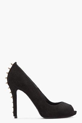 Alexander McQueen black studded Suede Heels