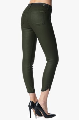 7 For All Mankind Sportif Crop In Olive And Black