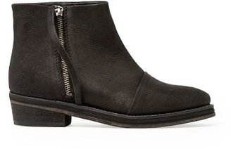 MANGO Zip Leather Ankle Boots