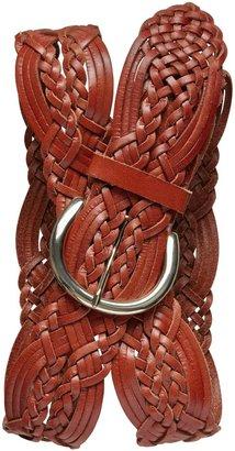 Banana Republic Wide Woven Leather Belt