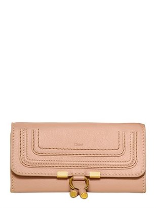 Chloé Marcie Textured Leather Long Wallet