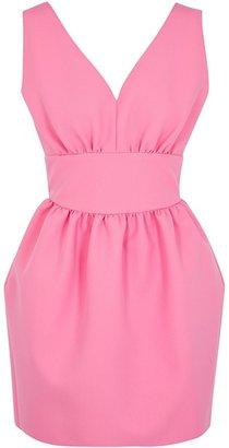 MSGM Pink Stretch-cady Mini Dress