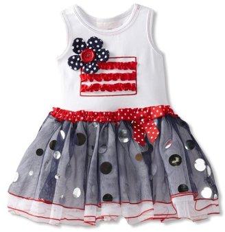 Bonnie Baby Girls Infant Flag Appliqu...