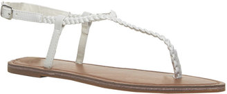 Wet Seal Braided T-Strap Sandals