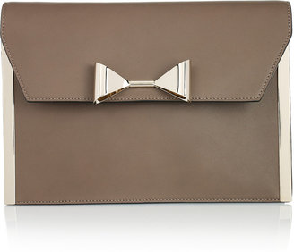 Chloé Rachel bow-embellished leather clutch