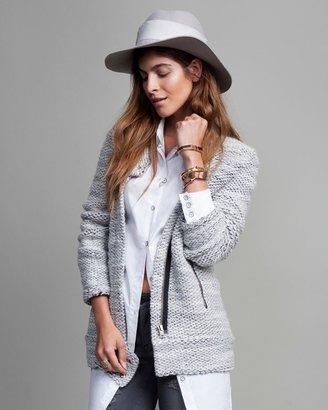 Hat Attack Ribbon Trim Felt Hat: Grey