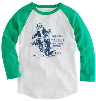 J.Crew Boys' motorcycle santa tee
