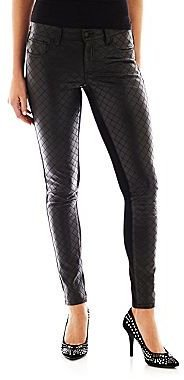 Bisou Bisou Quilted Faux-Leather Front Pants