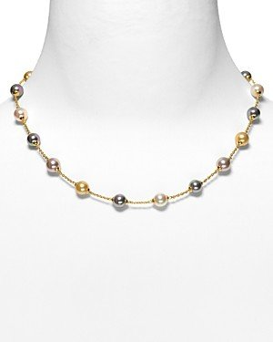 Majorica Illusion Simulated Pearl Necklace, 17