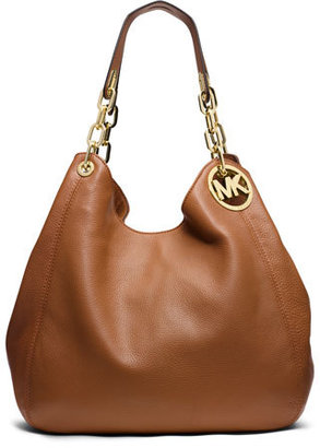 MICHAEL Michael Kors Fulton Large Shoulder Tote Bag, Luggage $398 thestylecure.com