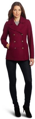 Tommy Hilfiger Women's Classic Double Breasted Wool Peacoat
