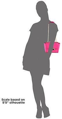 Diane von Furstenberg Lizard-Embossed Trapeze Bag