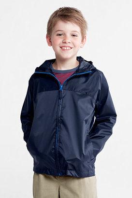 Lands' End Toddler Boys' Solid Packable Navigator® Rain Jacket