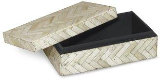 Williams-Sonoma Zigzag Bone Box