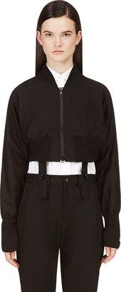 Yohji Yamamoto Black Dolman Sleeve Gather Jacket $1,700 thestylecure.com