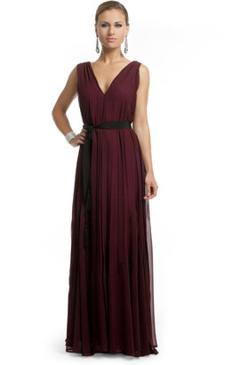 Twelfth St. By Cynthia Vincent by Cynthia Vincent Burgundy Bliss Gown