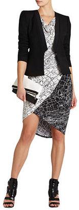 BCBGMAXAZRIA Tiffanie Print Blocked Dress
