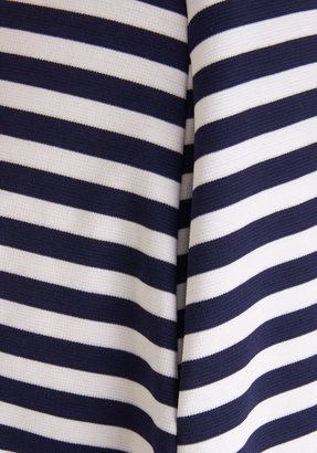 Coach Tour Dress in Navy Stripes