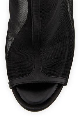 BCBGMAXAZRIA Gamma Mesh/Leather Bootie