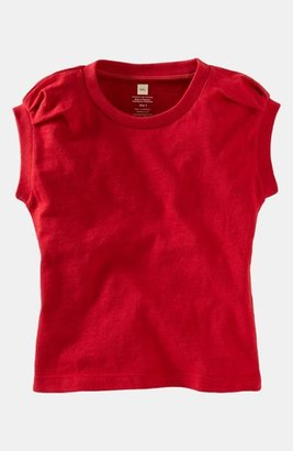 Tea Collection 'Terrific' Tee (Little Girls & Big Girls) China Red 7