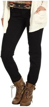 Roxy Skinny Slides Jean V5 in True Black (Juniors) (True Black) - Apparel