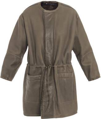Balenciaga Utility shearling-lined leather parka coat