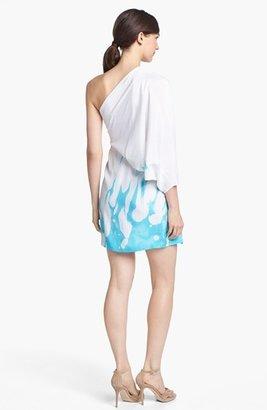 Diane von Furstenberg 'Akela' One Shoulder Silk Minidress