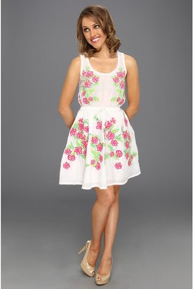 Juicy Couture Embroidered Silk Blend Cotton Voile Dress (Angel) - Apparel