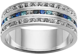 Swarovski Traditions Silver-Plated Crystal Multirow Ring