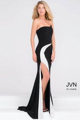 Jovani - Strapless Jersey High Slit Dress JVN41844 $378 thestylecure.com