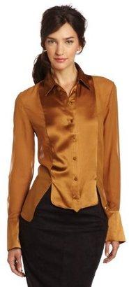 Robert Rodriguez Women's Tuxedo Button Front Shirt