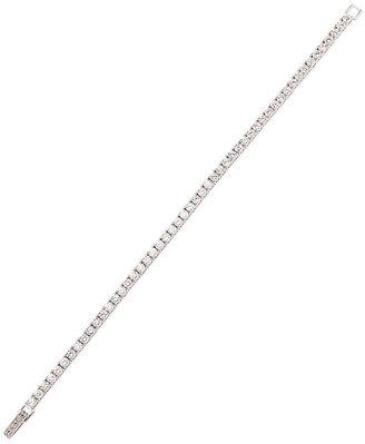 Crislu Sterling Silver Bracelet, Cubic Zirconia Tennis (5 ct. t.w.)