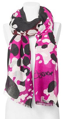 Diane von Furstenberg Kenley Woven Scarf In Cheetah Splash Pink