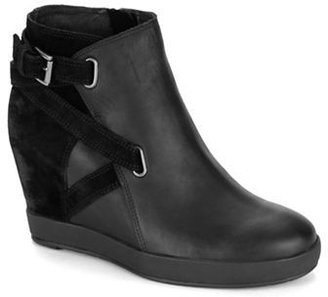 Eileen Fisher Suede Ankle Wedge Booties