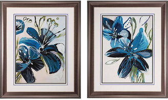 Rooms To Go Flowers Azure Set of 2 Artwork