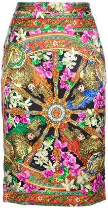 Dolce & Gabbana Patterned pencil skirt