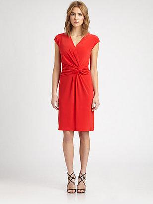 Josie Natori Twisted Jersey Dress