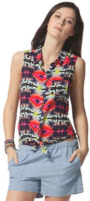 C&C California Button-Front Printed Tank