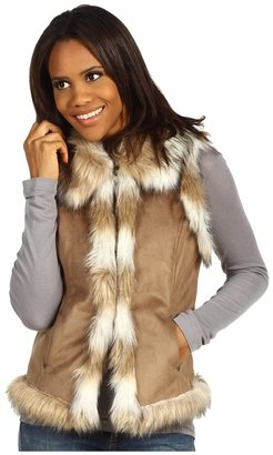 Scully Faux Fur Vest (Off White) - Apparel