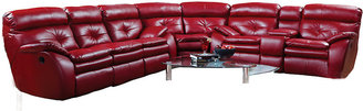 Rooms To Go Bristol Bay Red Blended Leather 3 Pc Sectional