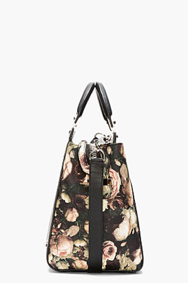 Givenchy Black Floral House Logo Tote