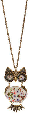 Topshop Floral Bead Articulated Owl