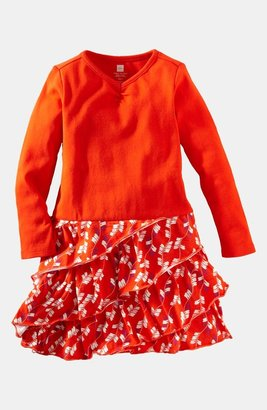 Tea Collection 'Arrow Ruffle' Dress (Little Girls & Big Girls)