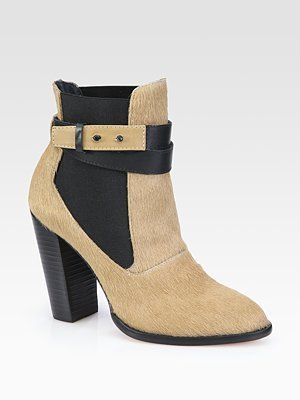 Elizabeth and James Solar Pony Hair & Leather Ankle Boots