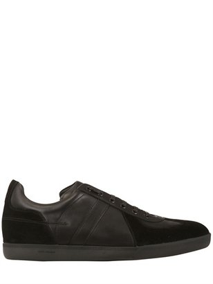 Christian Dior Leather And Suede Sneakers