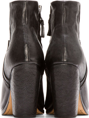 Rag and Bone Rag & Bone Black Leather Kendall Ankle Boots